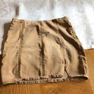 Free People Light Brown Mini Denim Skirt Sz Medium